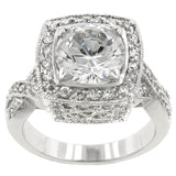 3.22C Round Cut Wedding Ring Engagement Diamond Simulated CZ 925 Sterling Silver Platinum ep
