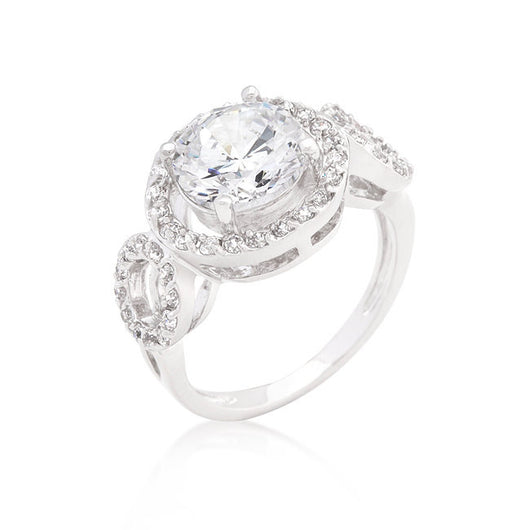 6.75C Round Cut Wedding Ring Engagement Diamond Simulated CZ 925 Sterling Silver Platinum ep