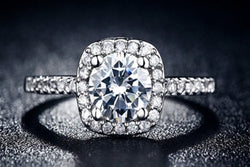 2.46c Round Cut Wedding Ring Engagement Diamond Simulated CZ 925 Sterling Silver