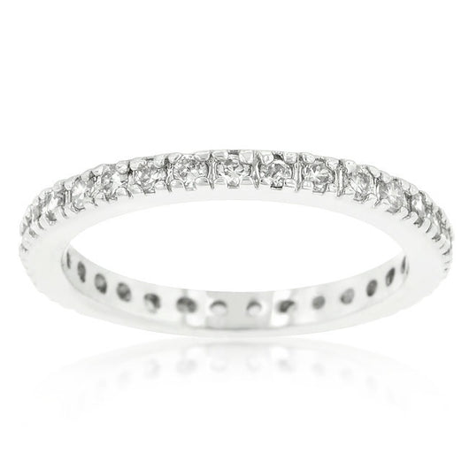 2.1ct Engagement Ring Eternity Wedding Band Womens Simulated Diamond Sterling Silver CZ