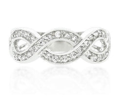 Infinity Engagement Ring Wedding Eternity Band Womens Simulated Diamond 925 Sterling Silver CZ