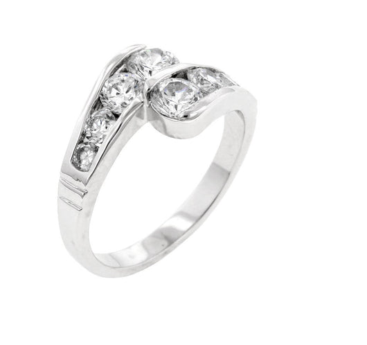 2.14c Engagement Ring Wedding Eternity Band Womens Simulated Diamond Sterling Silver CZ