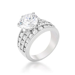 7.5c Round Cut Wedding Ring Engagement Diamond Simulated CZ 925 Sterling Silver Platinum ep