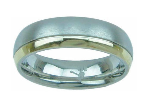 Men's Silver 2 Tone Titanium Ring 6mm Wedding Band Engagement Women's Ring