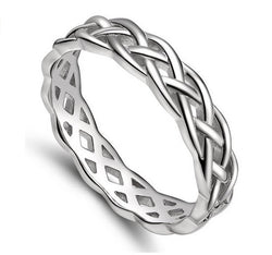 Celtic Knot Engagement Ring Eternity Wedding Band Womens Simulated Diamond 925 Sterling Silver CZ