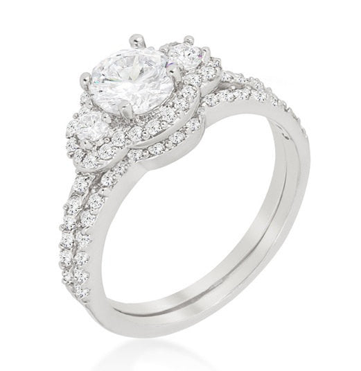 3.65c Round Cut Wedding Ring Engagement Diamond Simulated CZ 925 Sterling Silver Platinum ep