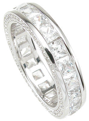 2.75 Princess Cut Engagement Ring Eternity Wedding Band Womens Simulated Diamond