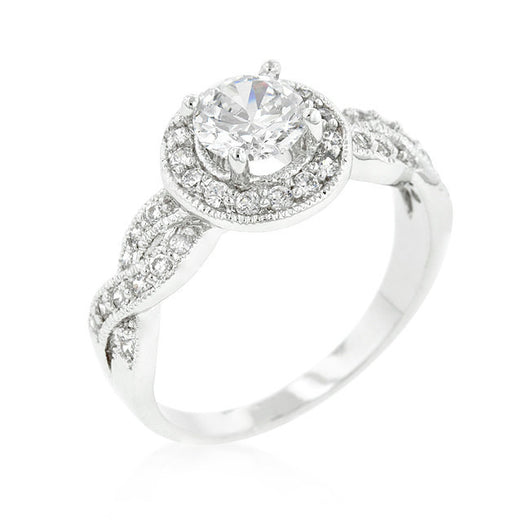 2.37C Round Cut Wedding Ring Engagement Diamond Simulated CZ 925 Sterling Silver