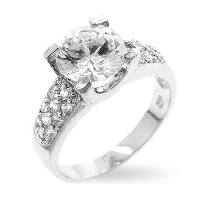 2.31c Round Cut Wedding Ring Engagement Diamond Simulated CZ 925 Sterling Silver