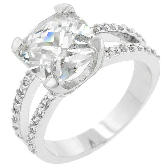 5.5c Round Cut Wedding Ring Engagement Diamond Simulated CZ 925 Sterling Silver Platinum ep