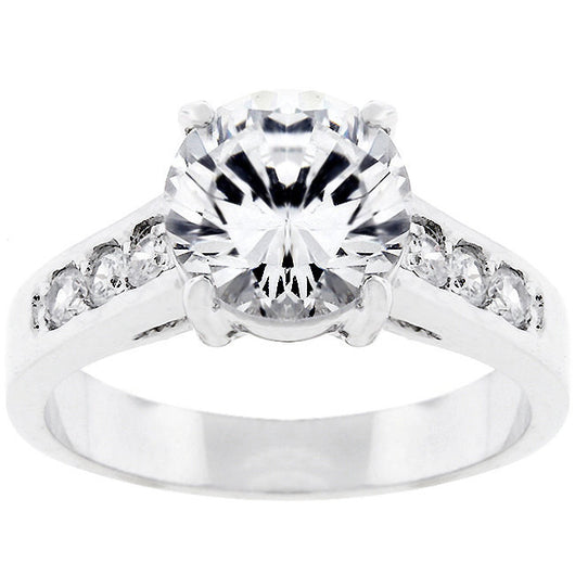 2.62ct Women's Round Cut Engagement Ring Wedding Ring Engagement Band CZ 925 SS