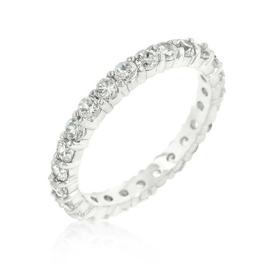 2.66ct Engagement Ring Eternity Wedding Band Womens Simulated Diamond 925 Sterling Silver CZ