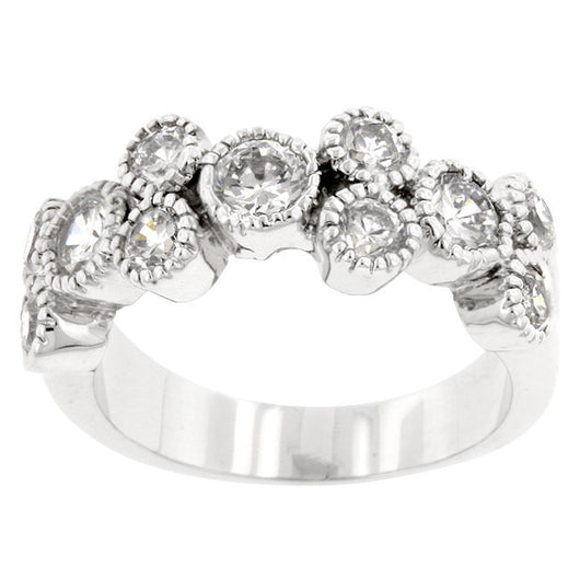 Bezel Engagement Ring Wedding Eternity Band Womens Simulated Diamond 925 Sterling Silver CZ