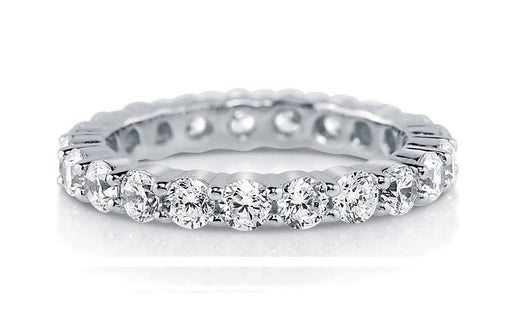 3c Engagement Ring Eternity Wedding Band Womens Simulated Diamond 925 Sterling Silver CZ