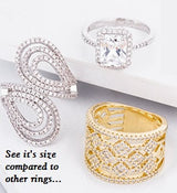 Make A Statement Ring Engagement Wedding Eternity Band CZ Simulated Diamond 925 Sterling Silver