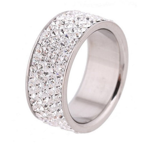 5 Row Engagement Ring Eternity Wedding Band Womens Simulated Diamond 925 Sterling Silver CZ