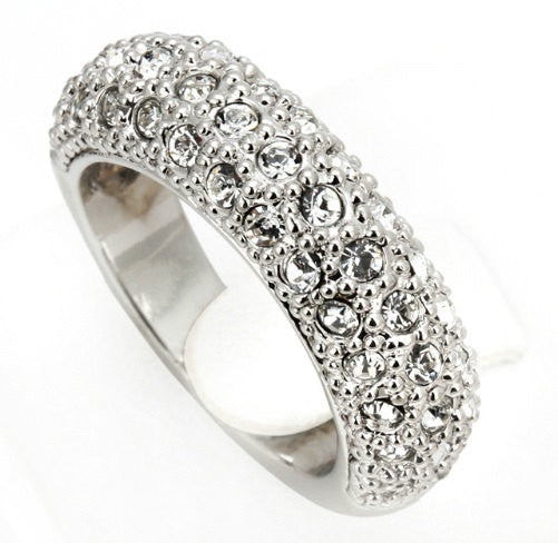 2.7c Engagement Ring Eternity Wedding Band Womens Simulated Diamond 925 Sterling Silver