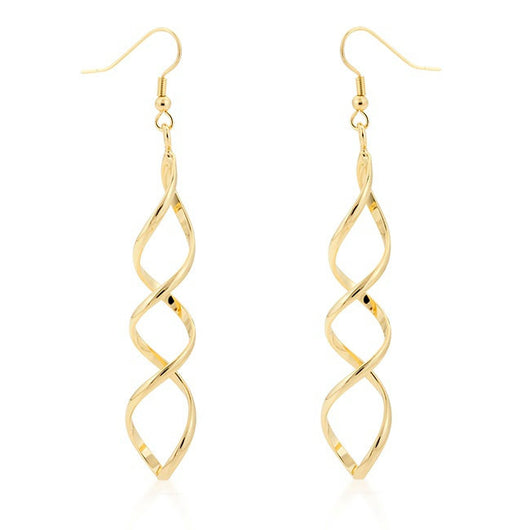 Gold SPIRAL EARRINGS Gold Twist 14K Gold-Filled / Sterling Silver ~Coil /Corkscrew /DNA Double Helix