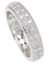 2C Engagement Ring Eternity Wedding Eternity Band Womens Simulated Diamond 925 Sterling Silver