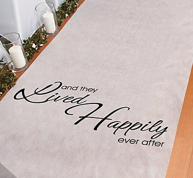 Wedding Aisle Runner 3 Feet x 100 Feet ~ And They Lived Happily Ever After ~ Church or Yard Marriage