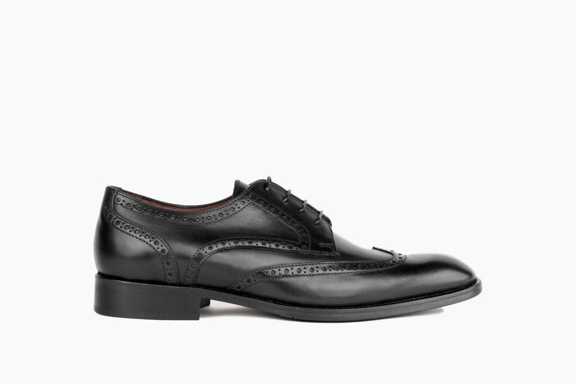 Adams Wingtip Lace-Up from Winthrop Shoes in Black