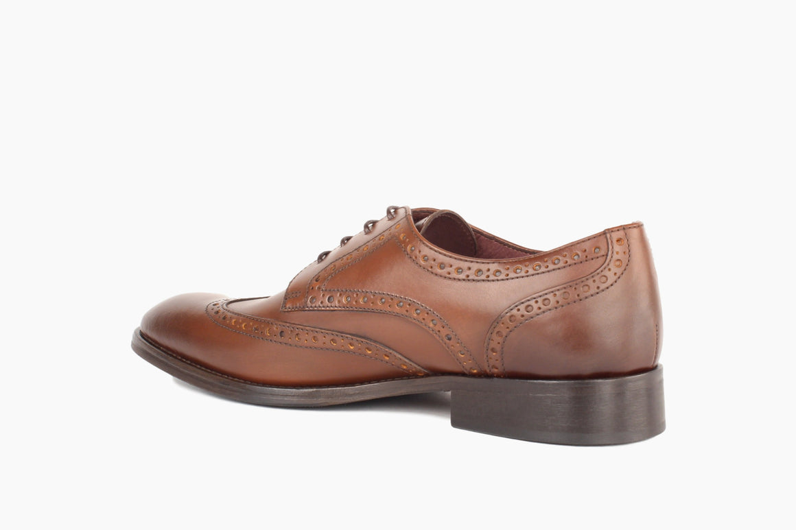 Back View of Adams Wingtip Lace-Up from Winthrop Shoes