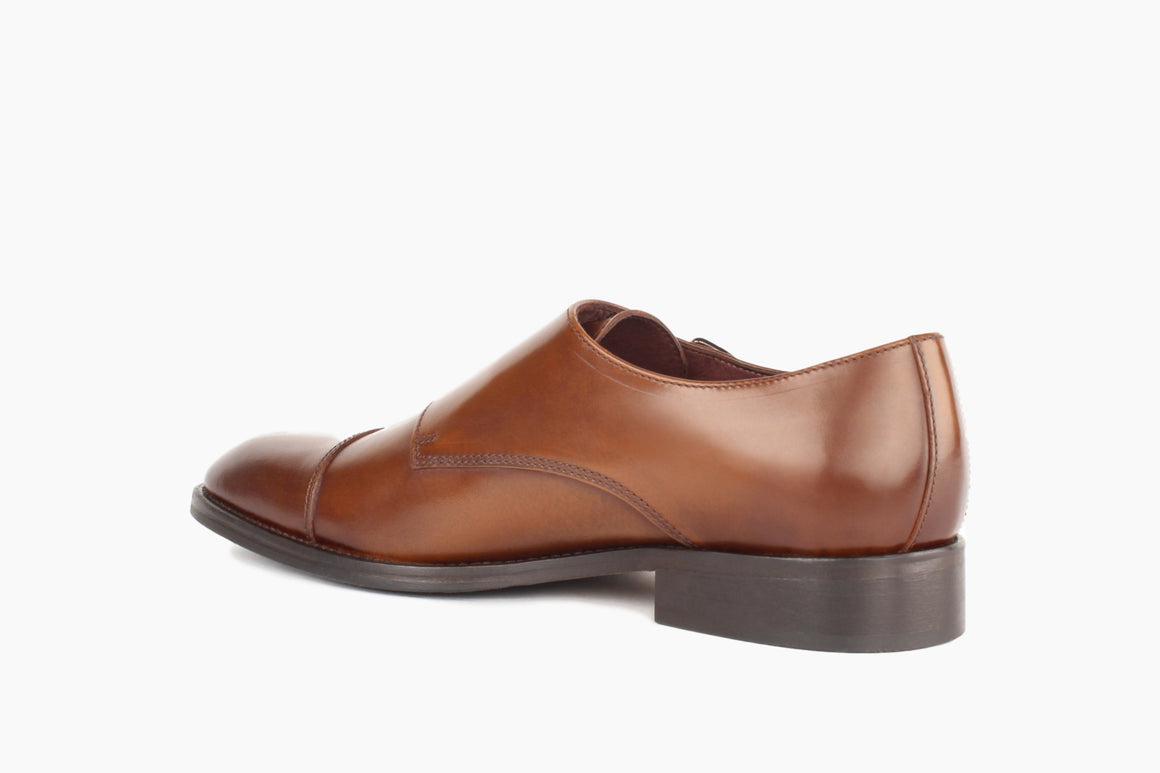 Back View of Bradley Double Monk Strap from Winthrop Shoes