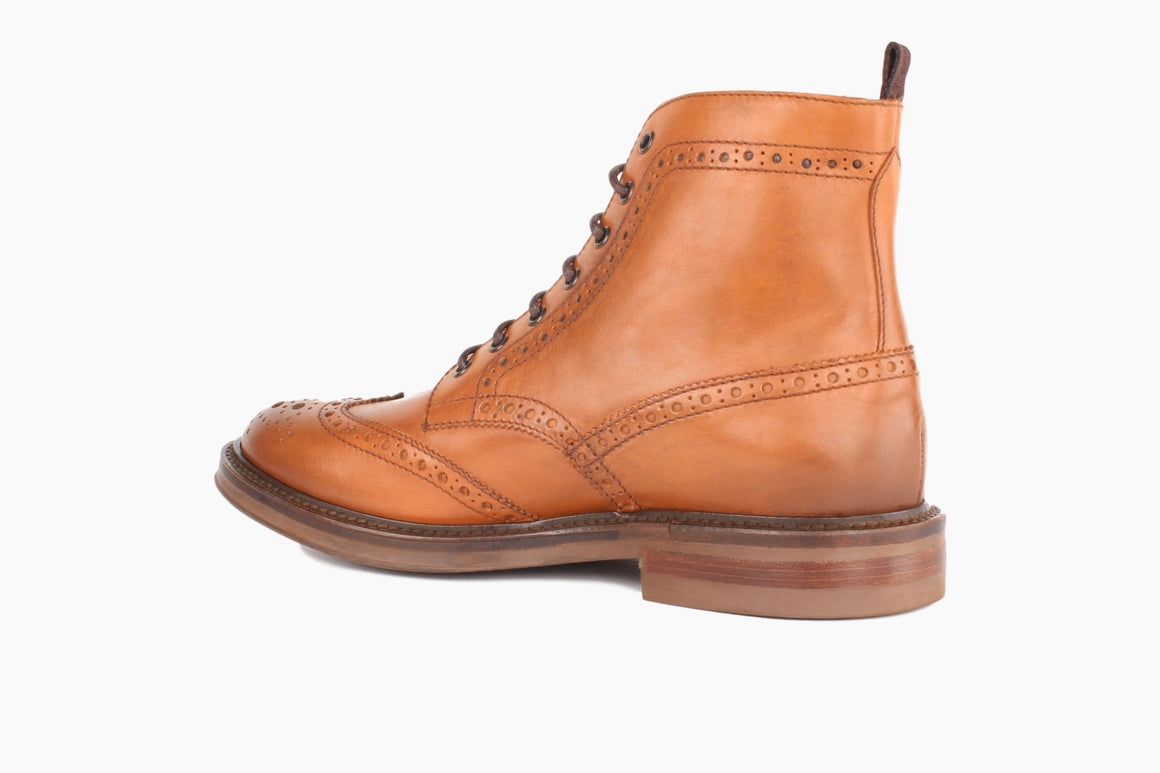 Back View of Carter Wingtip Lace-Up Boot