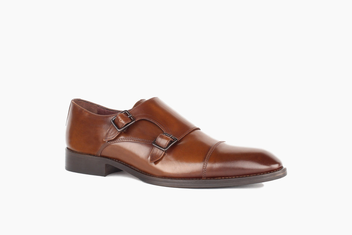 Front View of Bradley Double Monk Strap from Winthrop Shoes