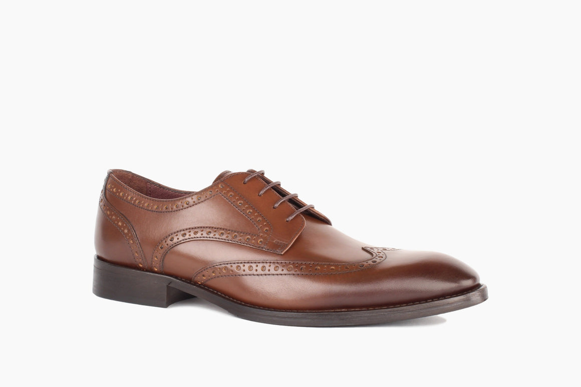 Front View of Adams Wingtip Lace-Up from Winthrop Shoes