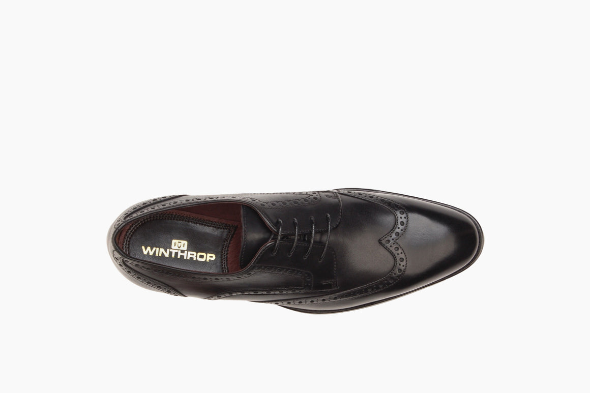 Aerial View of Adams Wingtip Lace-Up from Winthrop Shoes