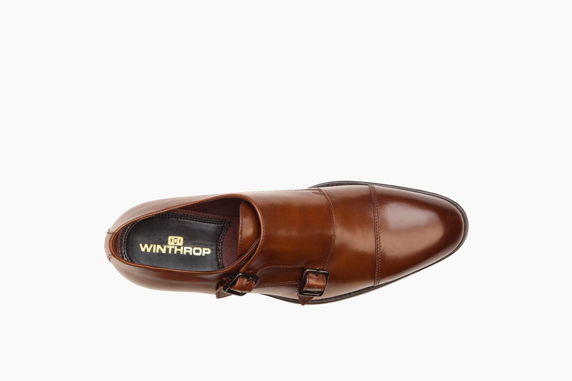 Aerial View of Bradley Double Monk Strap from Winthrop Shoes