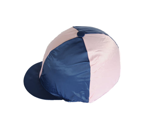 Helmet cover - navy and soft pink