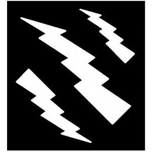 Clipping stencil - lightning bolt