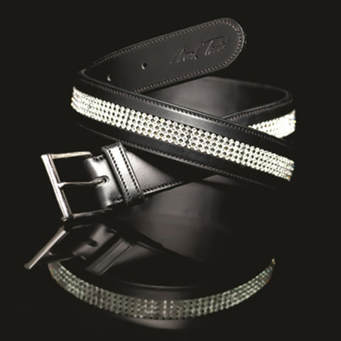 Mark Todd diamante leather belt for horseriding