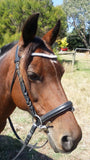 Curved flat diamante browband