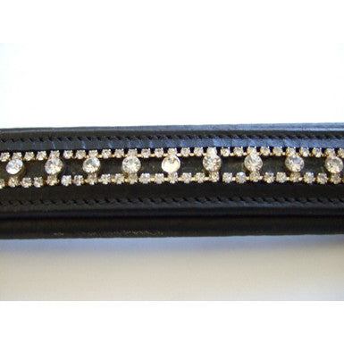 Padded round diamante browband