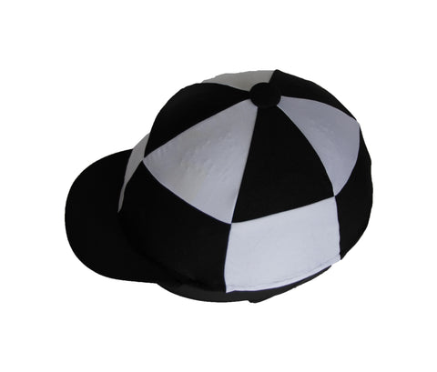 Helmet cover - black and white chequers
