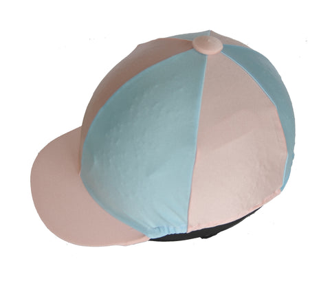 Helmet cover - baby blue and soft pink