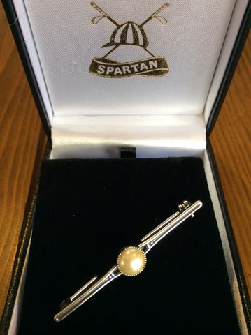 Stockpin - vintage single pearl on bar