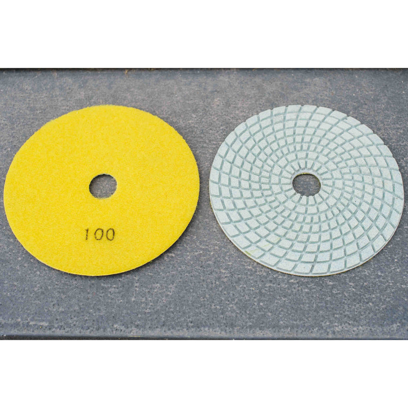 5'' Heavy Duty Wet/ Dry Resin Polishing Pad 100 grit