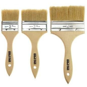 UNi-PRO Chip Brush Unpainted Handle Natural Bristle 50mm