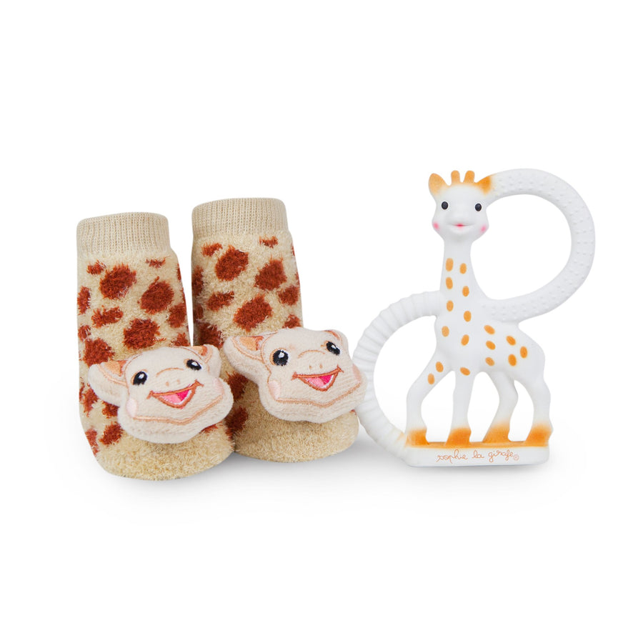 Sophie the Giraffe rattle socks & teether set