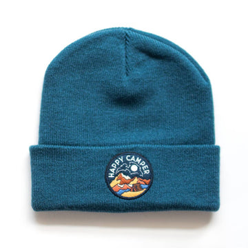 Seaslope embroidered patch beanie