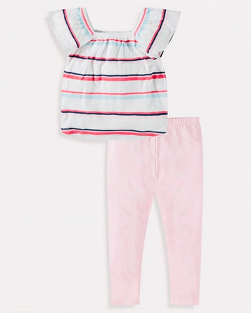 Splendid stripe top & leggings set -toddler girl