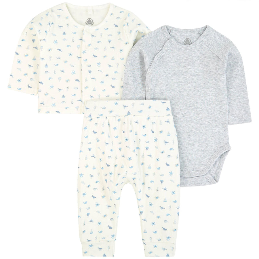 Petit Bateau 3-piece under the sea set - The Original Childrens Shop