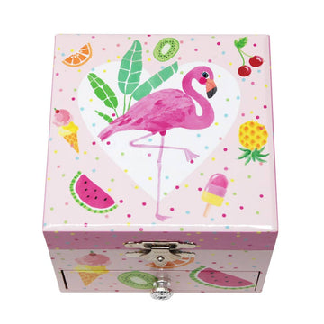 Pink Poppy flamingo jewelry box