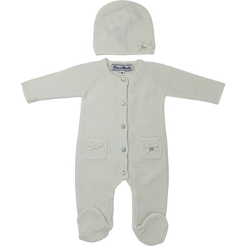 Tartine et Chocolat sweater romper & matching hat - The Original Childrens Shop