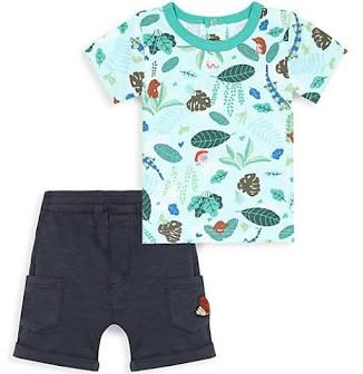 Catimini jungle tee & shorts set