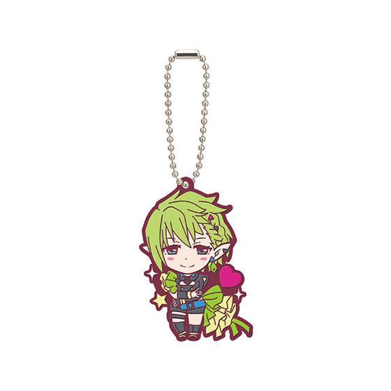 Macross Crossover Character Rubber Mascot Ball-Chain Key Chain